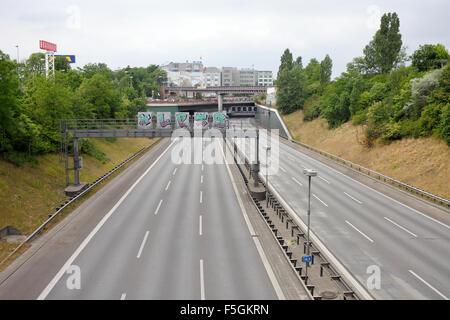 Berlin, Germany, full closure of Stadtautbahn A100