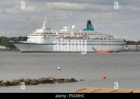 Eckernfoerde, Germany, Cruise Ship Albatros in Eckernfoerder Bay - Stock Photo