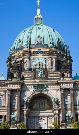 Detail of the entrance of the Dom in Berlin - Stock Photo