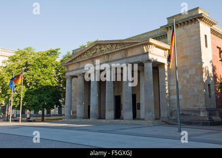 The Neue Wache in Berlin, a memorial for the dead of war and terror - Stock Photo