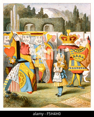 """'Off with their heads!' the angry Queen of Hearts from 'The Nursery """"Alice'', an shortened adaptation of 'Alice's - Stock Photo"""