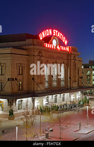 Union Station, Denver, Colorado USA - Stock Photo