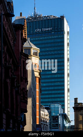 The City Tower office building, Manchester, England, UK.  Formerly the Sunley Building, Piccadilly Plaza. - Stock Photo