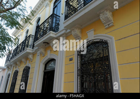 Exterior of the Casa Frederick Catherwood in Merida, Yucatan, Mexico - Stock Photo