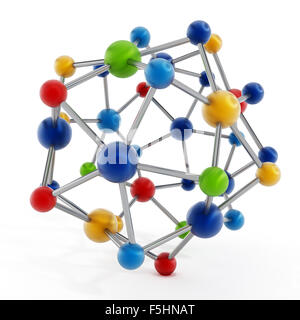 Molecular structure isolated on white background - Stock Photo