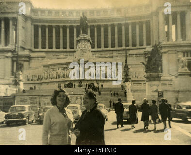 In Piazza Venezia for photography , Rome, Italy - Stock Photo