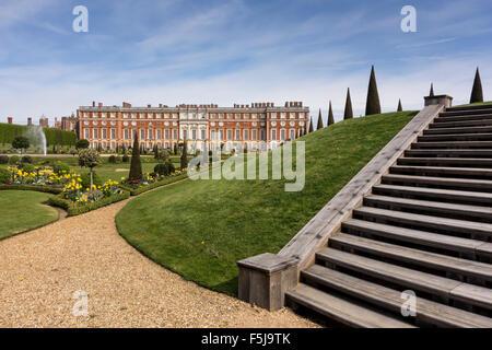 The Privy Garden, Hampton Court Palace, Richimond upon Thames, Surrey, UK - Stock Photo