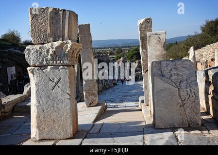 Ephesus  10th Century BC archeological site Selcuk Izmir Turkey Gate of Hercules. - Stock Photo