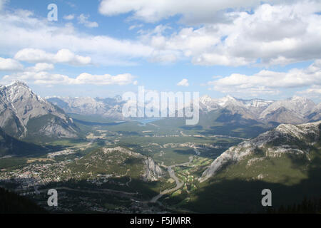 Shadows and Clouds over Banff. - Stock Photo