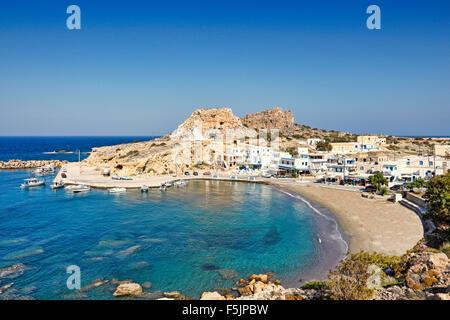 The village Finiki in Karpathos, Greece - Stock Photo