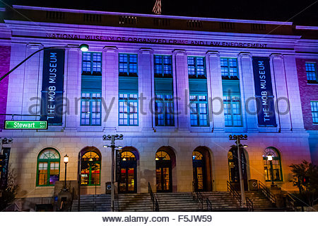 Mob Museum (National Museum of Organized Crime and Law Enforcement), Downtown Las Vegas, Nevada USA. - Stock Photo