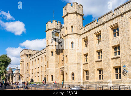 The Jewel House built in the west wing of the Waterloo Barracks in the Tower of London City of London England GB - Stock Photo