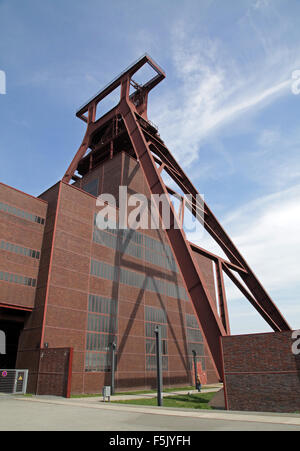 The Zollverein Coal Mine Industrial Complex German Zeche Zollverein former industrial site in Essen North Rhine - Stock Photo
