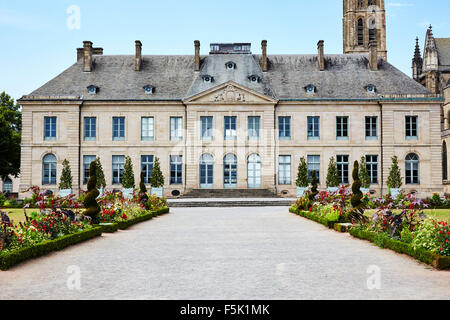 Beaux Arts Museum and Cathedral Saint-Etienne in Limoges, Haute-Vienne, Limousin, France. - Stock Photo
