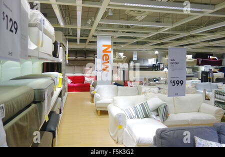 ... Sofas Selection At An Ikea Store In Toronto, Canada   Stock Photo