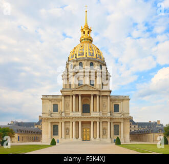 Les Invalides, Paris, France, Europe. This french landmark is famous for Napoleon Bonaparte burial place. In this - Stock Photo