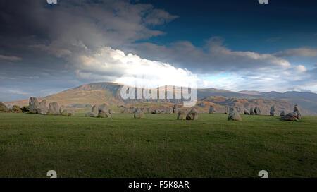 Castlerigg stone circle near Keswick, Lake District, Cumbria, England, Uk, Gb - Stock Photo