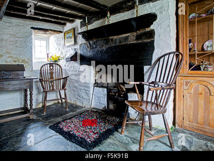 Interior of the Old Post Office, a National Trust property in Tintagel, Cornwall, England UK - Stock Photo