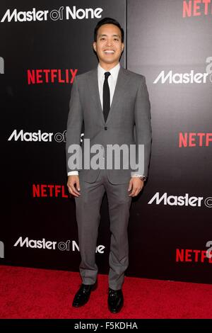 New York, NY, USA. 5th Nov, 2015. Alan Yang at arrivals for MASTER OF NONE Series Premiere on NETFLIX, AMC Loews - Stock Photo