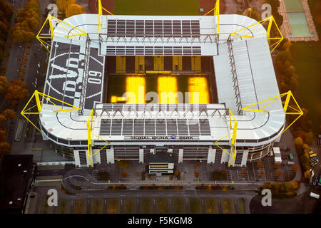 Signal Iduna Park, Signal-Iduna-Park, Borussia Dortmund, BVB O9, Stadium with Turf heating, national league football - Stock Photo