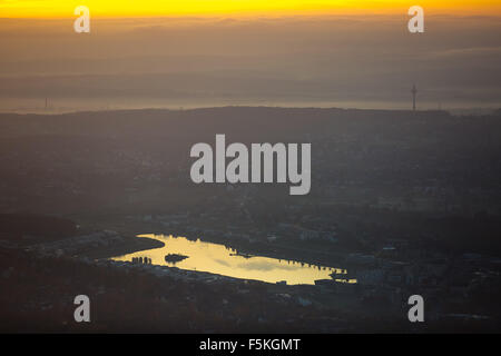 Phoenix Lake in Dortmund district Hörde, former site of the steelworks Phoenix East, Dortmund - Stock Photo