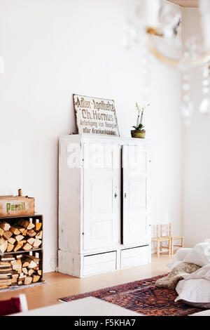 Sweden, Skane, Angelholm, Home interior, view of bedroom closet - Stock Photo