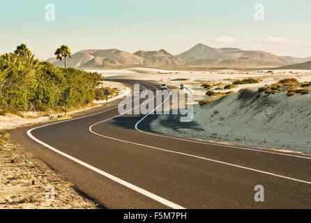 Corralejo Dunes in Fuerteventura - Stock Photo