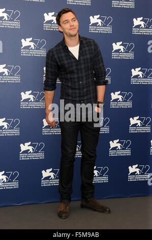 72nd Venice Film Festival - 'Equals' photocall  Featuring: Nicholas Hoult When: 05 Sep 2015 - Stock Photo