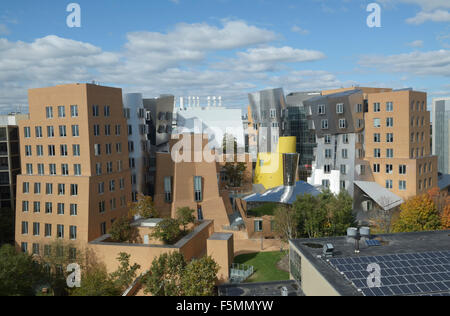 Ray and Maria Stata Center building, on campus of MIT.  Designed by Frank Gehry. Deconstructivist architecture