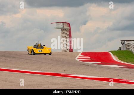 Sportscar Vintage Racing at Circuit of the Americas, Austin, Texas. - Stock Photo