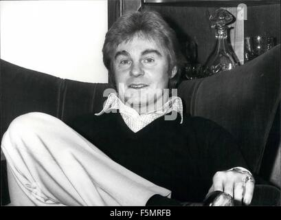 1972 - Derek Jacobi at Home : Derek Jacobi played the title role in the series ''I Claudius'' it was a performance - Stock Photo