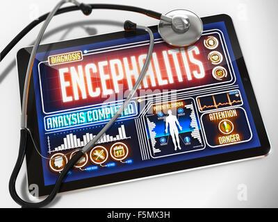 Encephalitis on the Display of Medical Tablet. - Stock Photo
