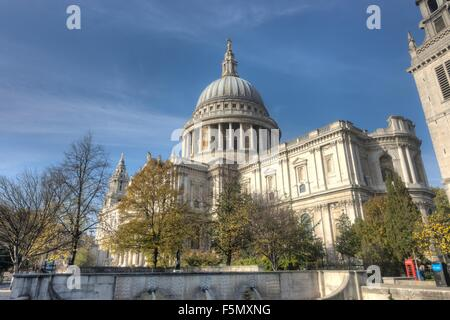 St Paul's Cathedral,  London.   London Church - Stock Photo