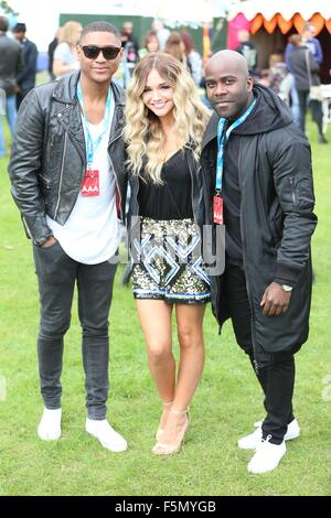 Sundown Festival 2015  Featuring: Ricky and Melvin from Kiss FM, Riva Where: London, United Kingdom When: 05 Sep - Stock Photo