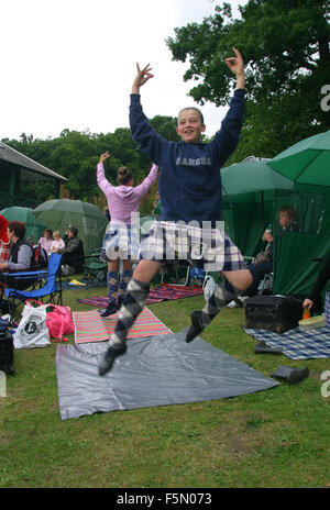 Pitlochry, Perthshire, SCOTLAND. 18th Sep, 2003. The Pitlochry Highland Games are held every year - and have been - Stock Photo