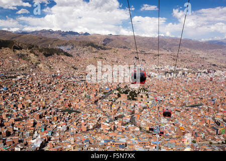 Electric Cable Car In La Paz Bolivia