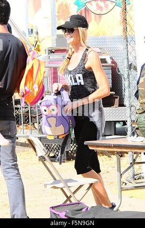 Celebrities at Malibu Kiwanis Chili Cook-off in Malibu  Featuring: Denise Richards Where: Brentwood, California, - Stock Photo