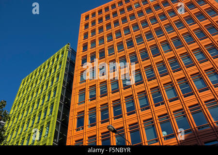 google london offices central st. Brightly Colored Office Blocks At Central St Giles London Where Google Has Its Offices - Stock N