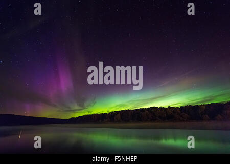 Northern lights in Lithuania - Stock Photo