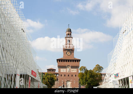 MILAN, ITALY - MAY 13: sign Expo Gate 2015, on October 8, 2015 in Milan, Italy - Stock Photo