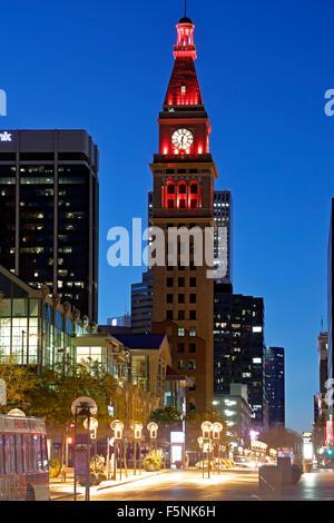 May D & F Tower, 16th Street Mall, Denver, Colorado USA - Stock Photo