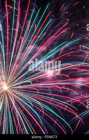Fireworks, Albuquerque International Balloon Fiesta, Albuquerque, New Mexico USA