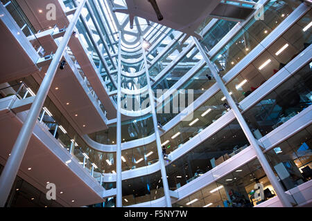 Interior of Unilever House (100 Victoria Embankment), London, England - Stock Photo