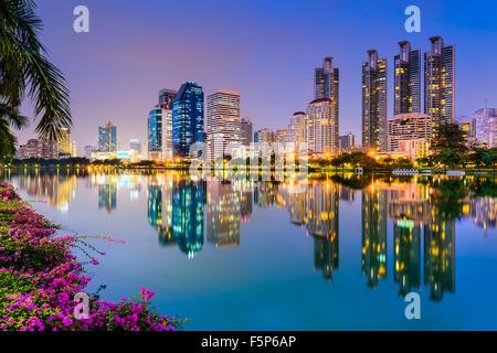 Bangkok, Thailand at Benjakiti Park. - Stock Photo