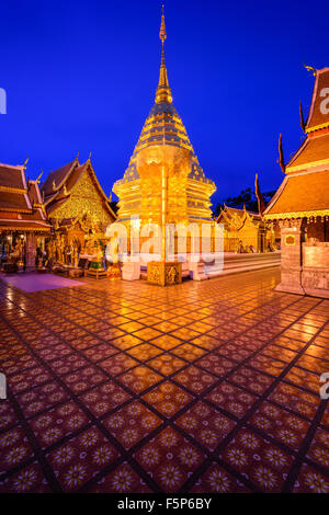 Wat Phra That Doi Suthep Temple of Chiang Mai, Thailand. - Stock Photo