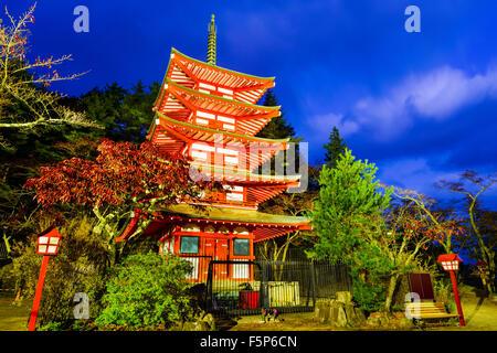 Chureito Pagoda of Arakurasengen Shrine in Fujiyoshida, Japan.