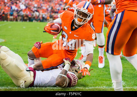Clemson wide receiver Ray-Ray McCloud (34) during the NCAA ...