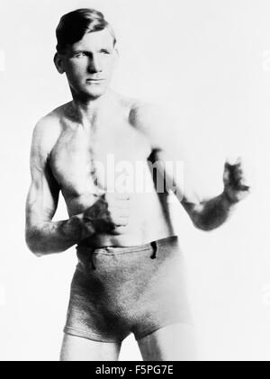 Vintage photo of Irish-American boxer Edward 'Gunboat' Smith (1887 - 1974). Smith, from Philadelphia, Pennsylvania, - Stock Photo