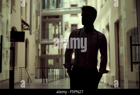 Handsome young guy wearing elegant clothes - Stock Photo