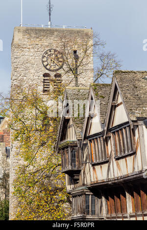St Michael at the North Gate, Saxon tower in Oxford, England - Stock Photo